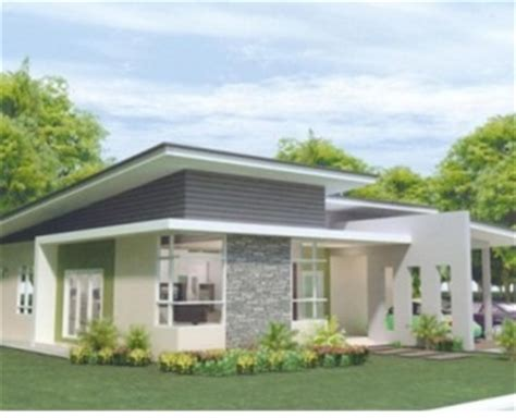 bungalow house design with terrace pan villa properties taman seri lumapas single storey