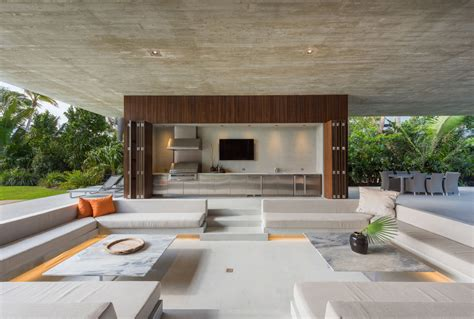 outdoor wohnzimmer design a luxury miami home with pools lagoons and