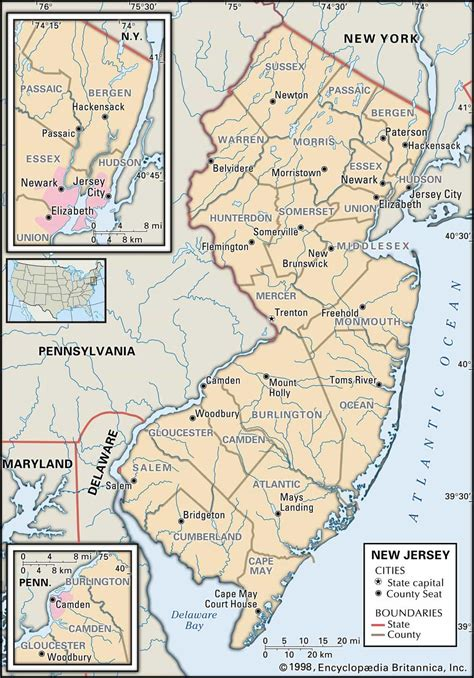 County Nj Records Historical Facts Of New Jersey Counties Guide