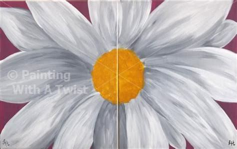 paint with a twist jackson daisies and and on