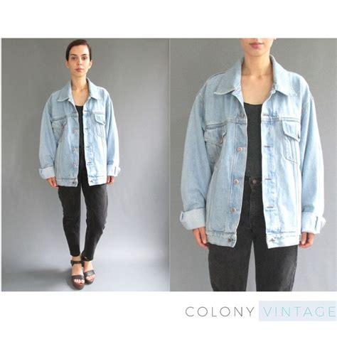 light wash denim jacket cheap reserved 90s oversized light wash denim jacket medium