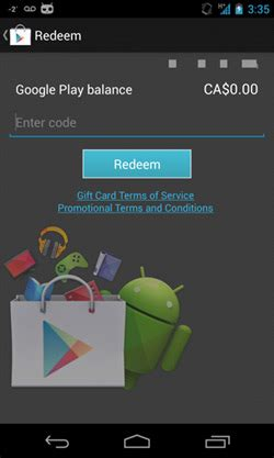 Google Play Gift Card Canada - canadian google play gift cards page goes live