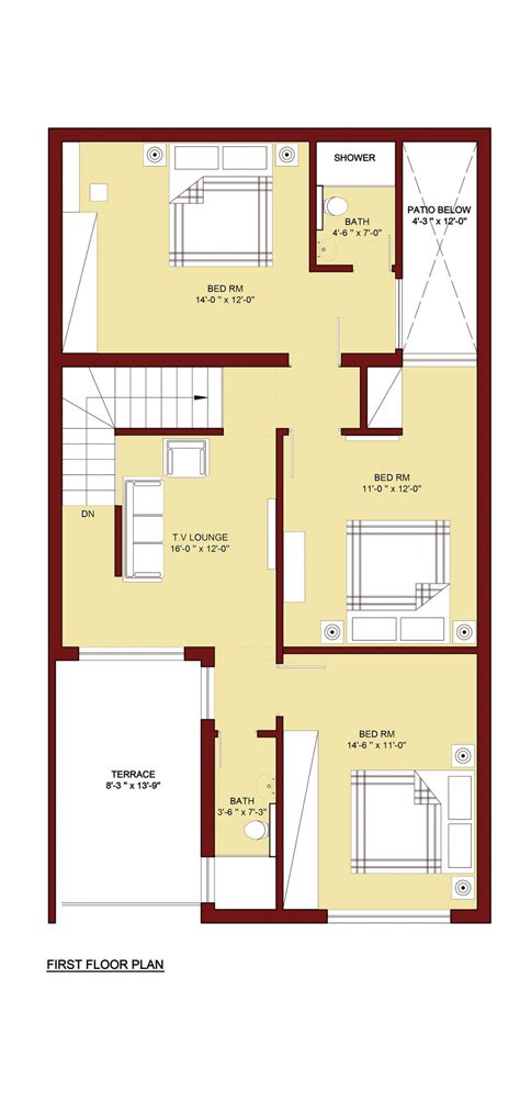 house plans with room 100 sq m home plan 5 marla info 360