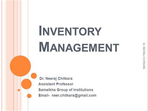 Inventory Management Authorstream Inventory Powerpoint Presentation Template