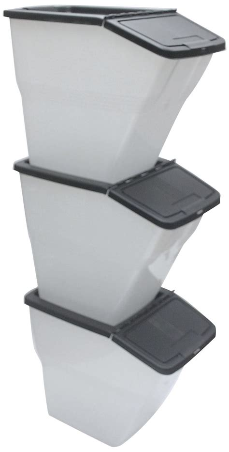 stackable bins  hinged lids  quart stackable
