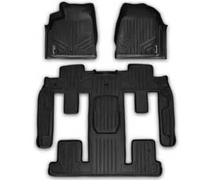 2011 Buick Enclave All Weather Floor Mats 2009 Current Traverse Enclave Arcadia Floor Mats Black