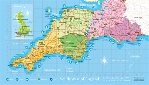 map of south west basic transport guide in the southwest of uk the
