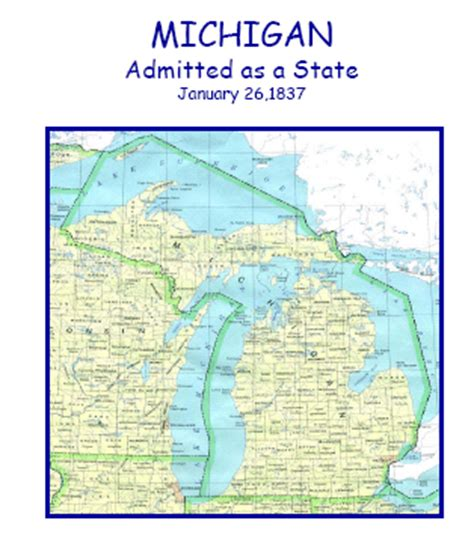 Michigan The 26th State by Kalamazoo County Chronology Of Local Government