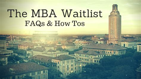 What To Do If You Are Waitlisted Mba by Mba Insider