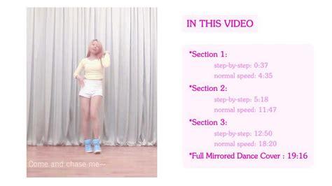 tutorial dance red velvet red velvet ice cream cake full mirrored dance tutorial
