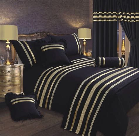 black gold bedding black gold colour stylish sequin duvet cover luxury beautiful glamour sparkle