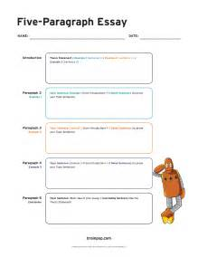 5 Paragraph Descriptive Essay by Five Paragraph Essay Graphic Organizer Brainpop Educators