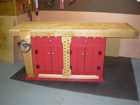 benchcrafted shaker workbench by lj61673 lumberjocks com woodworking community