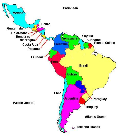 a map of central and south america and south america mr cockrum s history