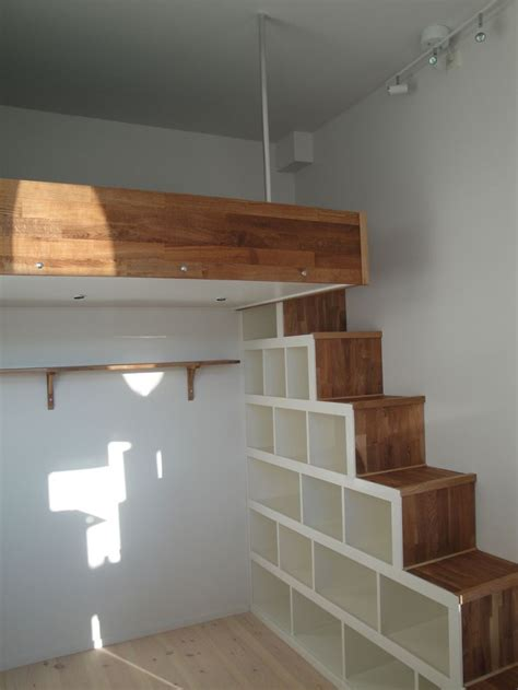 loft bed with steps how to make loft bed with stairs quick woodworking projects
