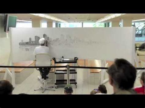 time lapse of brisbane panorama by stephen wiltshire youtube stephen wiltshire draws brisbane at state library of