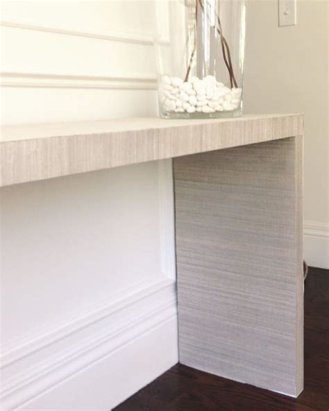 ikea hack console table white gold ikea hack malm table to grasscloth console
