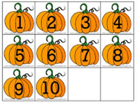 Printable Pumpkin Number Cards | letter p for pumpkin confessions of a homeschooler