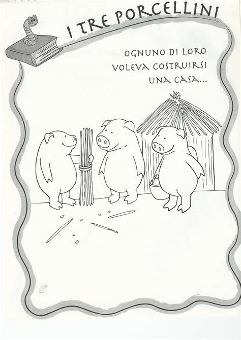 i tre porcellini canzone testo i tre porcellini da colorare