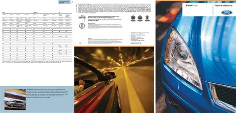 ford focus brochure   ford motor company limited uk
