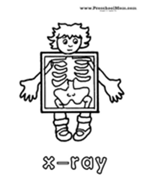 printable x ray coloring pages letter x preschool printables