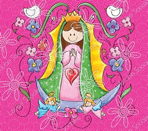 imagenes la virgen de guadalupe en caricatura invitaciones sociales santitos