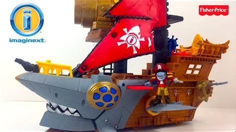 barco pirata de imaginext imaginext barco pirata mordedura de tiburon con tesoro y