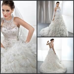 latest gorgeous designer halter ball gown wedding dresses