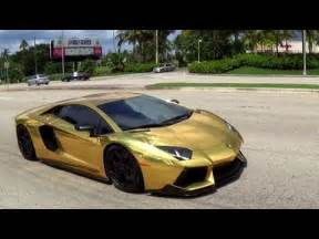 Gold Plated Lamborghini Worlds Gold Plated Lamborghini Aventador Lp700 Revs