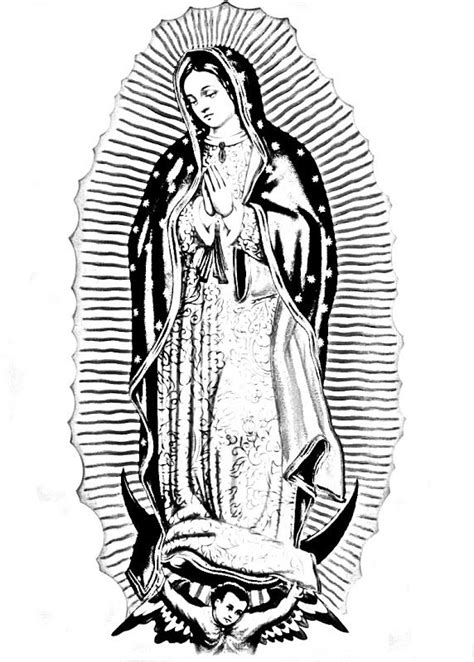 Mary Virgen Guadalupe Coloring Pages Virgen De Guadalupe Coloring Pages