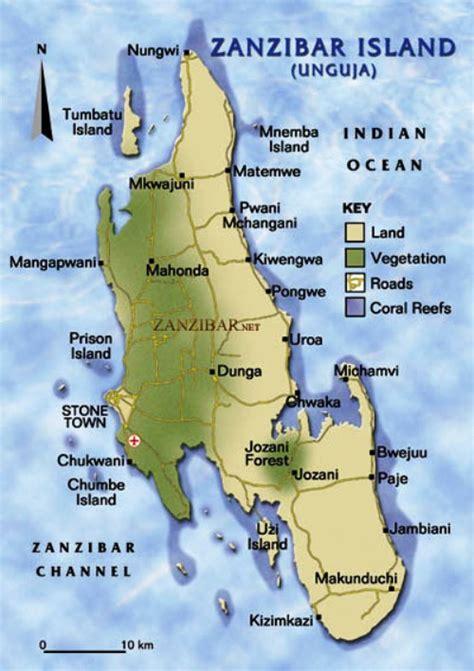 africa map zanzibar zanzibar beaches are and tropical