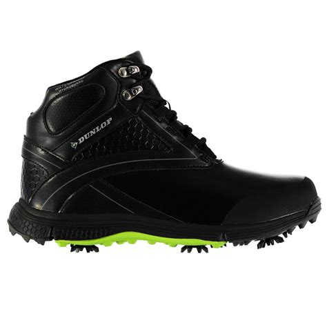 golf boots mens dunlop mens biomimetic 300 golf boots lace up waterproof