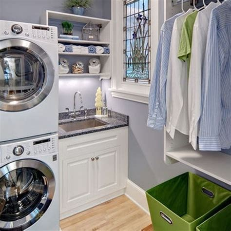 Laundry Hers For Small Spaces White Laundry Room Design With Small Space Solutions
