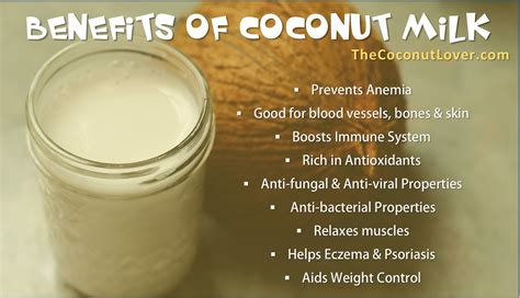 Milk For Health And by Benefits Of Coconut Milk The Coconut Lover