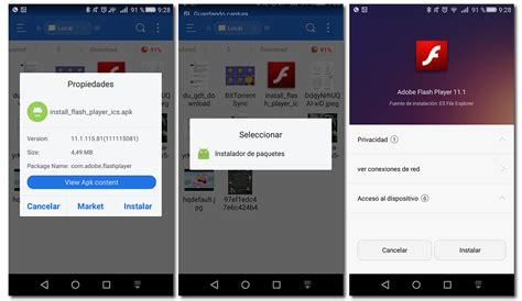 adobe flash player descargar c 243 mo instalar adobe flash player android gu 237 a de uso y