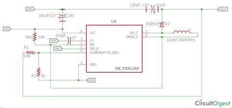 3 7 V To 5v Converter Circuit Diagram 3 7v to 5v boost converter circuit diagram using mc34063