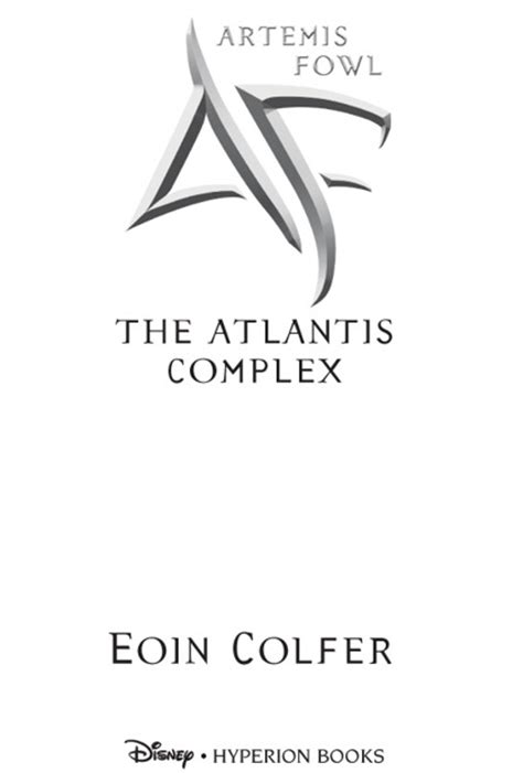 Книга: Artemis Fowl: The Atlantis Complex