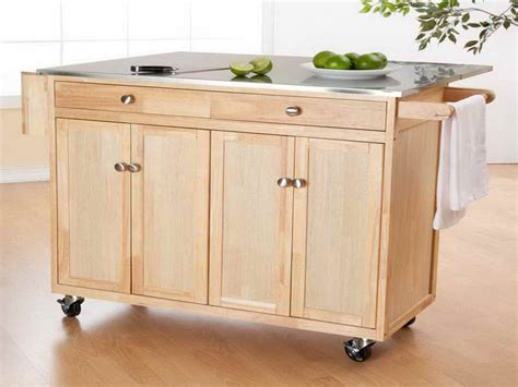 kitchen island on wheels wooden portable kitchen island wheels studio apartment