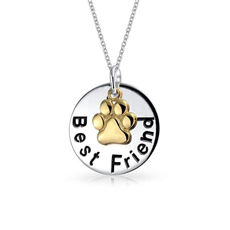 Best Metal For Jewelry Gold by Bling Jewelry Gold Plated Silver Best Friend Paw Circle