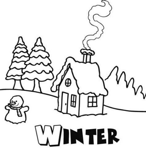 imagenes para invierno dibujo de invierno para que los ni 241 os pinten en navidad