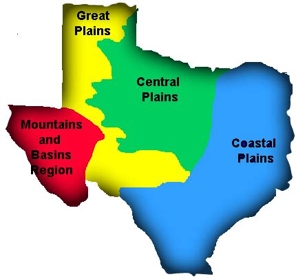texas 4 regions map regions of texas home