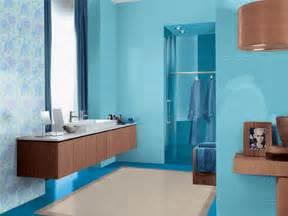 Blue brown color scheme light blue bathroom paint color and wooden