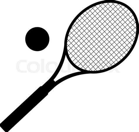 Promo Raket Tenis Silhouetee silhouette of tennis racket vector illustration stock vector colourbox