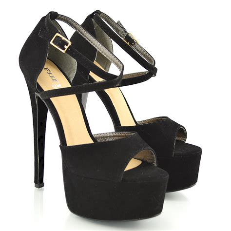 womens high heels shoes womens peep toe strappy platform stiletto high heel