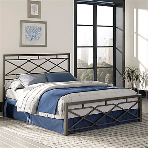 bed bath and beyond headboards buy fashion bed group alpine king bed in rustic pewter
