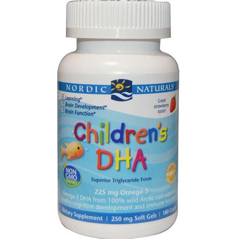supplement dha nordic naturals children s dha strawberry 250 mg 180
