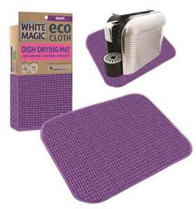 Cloth Dish Drying Mat by White Magic Eco Cloth Dish Drying Mat Grape Ebay