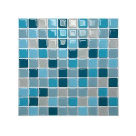 smart tiles 10 in x 10 in multi colored peel and stick