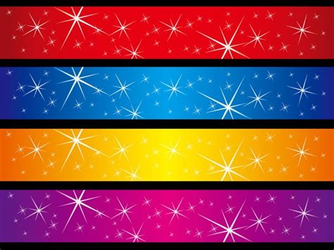 layout banner photoshop sparkling stars vector background banner vector material