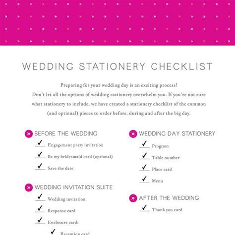 Wedding Checklist Basic by Wedding Stationery Checklist Printable By Basic Invite